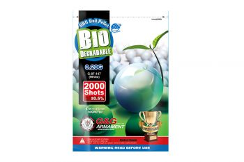 Premium Grade G&G Biodegradable BBs 0.20g (Bag/2000R) (White) (Discontinued)